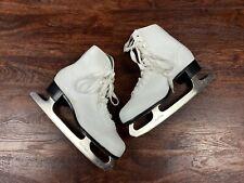 Black Dragon Women's White Tie Ice Skates size 10 Regular