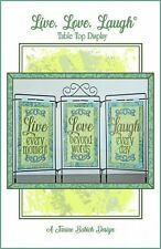 Live Love Laugh Table Display Machine Embroidery CD Janine Babich Designs