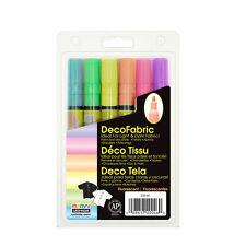 Marvy Uchida DecoFabric Fluorescent Marker Set 222-6F Light & Dark Fabric