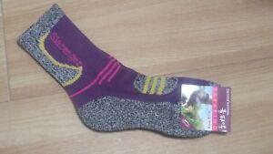 4 Pairs Slazenger Womens Long Socks for Climbing/Hiking/Outdoor Sports Coolmax