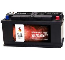 Blei Akku 12V 120Ah AGM GEL Batterie USV Solar Wohnmobil Boot Versorgung 100Ah