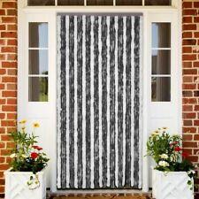 vidaXL Cortina de Puerta Anti Insectos 90x220 cm de Chenilla Gris y Blanca