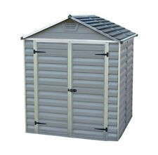 Customer Returned PALRAM SkyLight Grey Plastic Shed  Max Size 6ft 2in x 5ft 4in