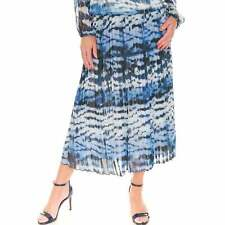 Just White Blue Skirt 42387