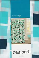 Blue White Mosaic Tiles Odette Vinyl Shower Curtain