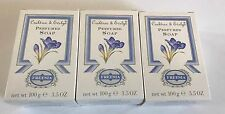 NEW Crabtree & Evelyn Lot of 3 Perfumed Soap Freesia 3.5 oz