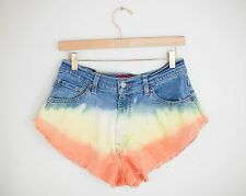 Vintage LEVI'S Tie Dye Ombred Colored High Waisted Cut Offs Denim Shorts - 32/33