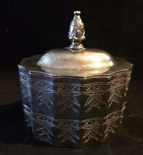 Vintage Ornate Godinger Silver Plated Jewelry Trinket Box w Lid & Red Velvet