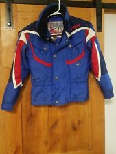 SPYDER Ski Snow Winter Jacket Coat Youth Boys Kids Size (8-9) Blue Red White SEE