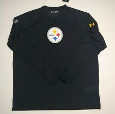 Under Armour SZ XL Pittsburgh Steelers Black Combine Authentic Long Sleeve Shirt
