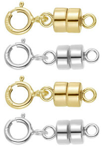 14K Gold Filled and 925 Sterling Silver Magnetic Clasp Converter w/ Spring Ring