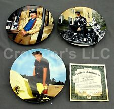 Set of 3 Collectible Vintage Elvis Presley Plate Limited Edition by Bruce Emmett