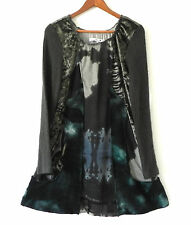 Passion Concept Dress Multi-Color Long Sleeve Patching Size M
