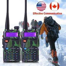 2X Baofeng UV-5R Green Walkie Talkie Two Way Radio VHF UHF Dual Band Transmitter