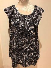 SABA silk print top. Size 12.