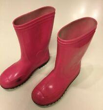 6d34790a9f1d Girls' Basic Hot Pink Rain Boots Size 3 Kids