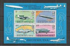 Bermuda 1975 servizio di posta aerea minisheet SG, ms334 U/M NH LOTTO 2984a