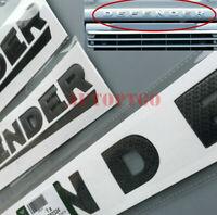 Black Car Front Hood 3D Letter Logo Emblem Badge Decal For Land Rover Defender