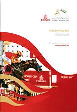 DUBAI WORLD CUP 2002 RACE CARD STREET CRY, CALLER ONE, XTRA HEAT