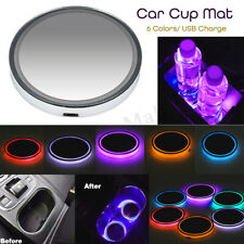 1pc LED Car Auto Cup Holder Pad Mat Atmosphere Interior Lights Universal