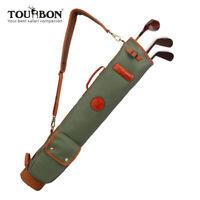 Tourbon Leicht Golfbag Pencilbag Vintage Golftasche Faltbar für Herren/Damen