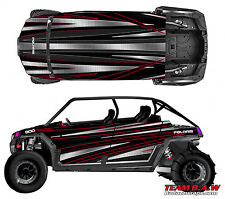 Polaris 4 RZR 900 xp Design Golden Ride Decal Graphic Kit Wraps Hood Scoop