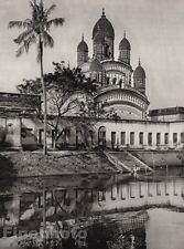 1928 Original INDIA Dakshineswar Temple Architecture Hooghly River By HURLIMANN