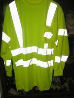 NEW CalPia CalTrans California DOT Yellow Safety Shirt w/Reflectors M Pia 429800