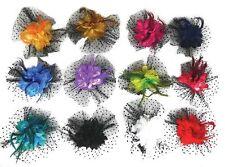 Women Girls Feather Flower Hair Clip Broach Fascinators Wedding Ascot Party