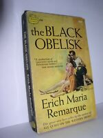 The Black Obelisk by Erich Maria Remarque (Crest #d249, 1'st Prt Nov 1958,PB )