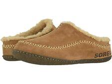 Men's Sorel Falcon Ridge II Suede Fleece Slippers - Camel Brown/Curry NIB