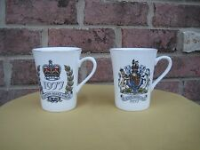 SET OF 2 COFFEE MUG TEA CUP FINE CHINA ENGLAND QUEEN'S SILVER JUBILEE 1977