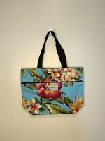 Hawaiian Print Black Nylon Backpack Honu Hibiscus Travel Beach Bag Hawaii Island