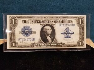 Large $1 Silver Certificate Fr. 237 Series 1923 Blanket Note Ex Condition, UNC