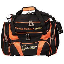 Hammer Premium Deluxe Double Tote 2 Ball Bowling Bag Black/Orange