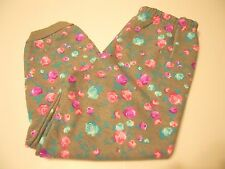 Girls Pants Size 5T Med Gray Heather Floral Print Fleece