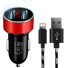 Fast 2 Port Car Charger iPhone Charger Cable For iPhone 6 7 8 12 11 X Max XS XR