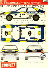 STUDIO 27 SANYO DECAL for TAMIYA 1/24 AUDI QUATTRO RALLY