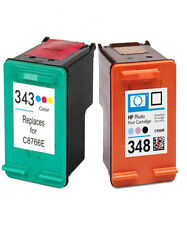 Non-OEM Replaces For HP 343 & 348 Colour & Photo Black Ink Cartridges
