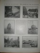 Photo article Launch battleship HMS Bellerophon 1907