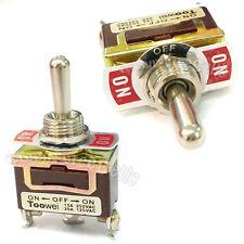 1 On-Off-On Spdt Interrupteur à Bascule Loquet 15A 250V 20A 125V Ac Résistant