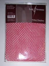 Leg Avenue Red Fishnet Pantyhose Tights OSFM 90-160 lbs NIP Halloween Costume