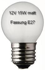 3x Glühlampe Glühbirne Leuchte Lampe Ersatz E27 Tropfen 12V 15W matt 497203