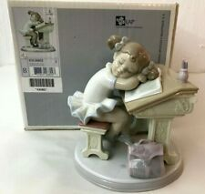"""Lot #32: Lladro, Spain: """"Waiting For The Bell"""" #6802 Jose Santaeulalia Retired"""