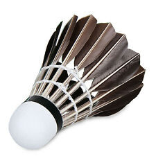 W 12X Training Sport White Goose Feather Birdies Ball Game Shuttlecock Badminton