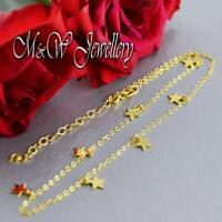 925 Sterling Silver Gold Plated Choker Necklace with STAR Pendants