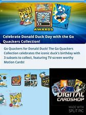 Topps Disney Collect GO QUACKERS COLLECTION Die-Cut Set of 7 Cards