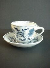 Blue Danube Blue Onion Cup & Saucer Old Banner Ribbon Mark Japan