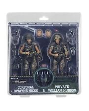"Aliens 30th Anniversary Colonial Marines HICKS & HUDSON 7"" Scale Figure Set NECA"