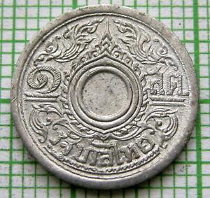 THAILAND RAMA VIII BE 2485 - 1942 1 SATANG, TIN UNC